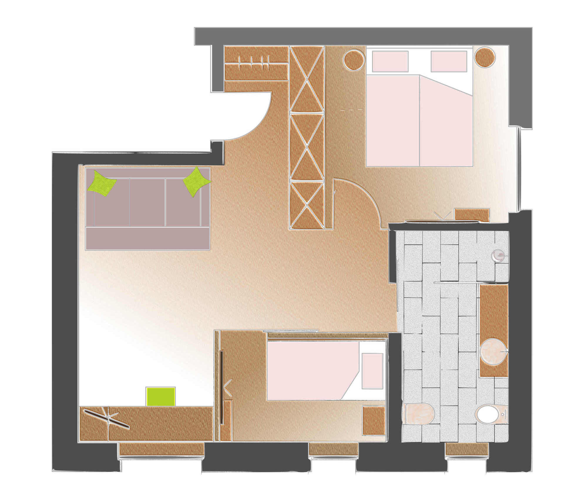 family suite planimetria piccola dimension